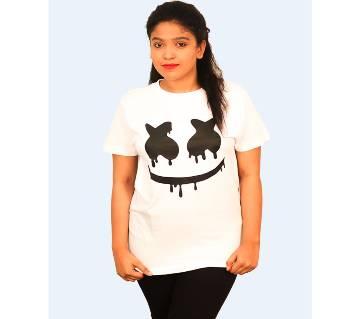 Marshmello Ladies Half Sleeve Cotton T-Shirt