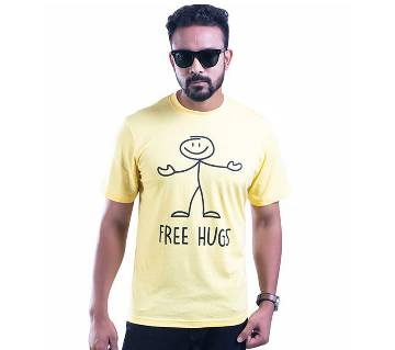 Mens Half Sleeve Cotton T-Shirt T-31
