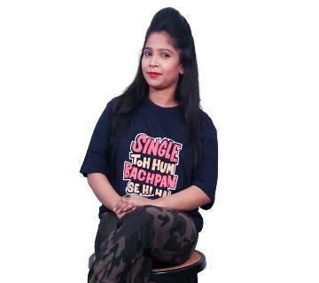 SINGLE Ladies Half Sleeve Cotton T-Shirt