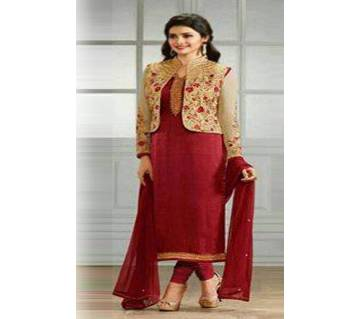 Unstitched Gorgeous Embroidery Georgette Salwar Kameez - Copy