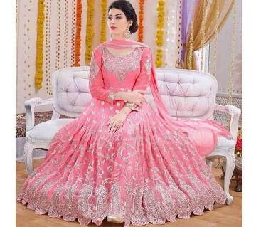 India Embroidery Georgette Dress