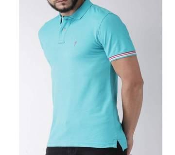 Short Sleeve Polo T-shirt For Men-Sky Blue