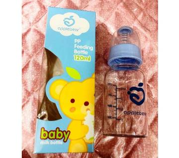 Apple bear glass baby feeder -120ml