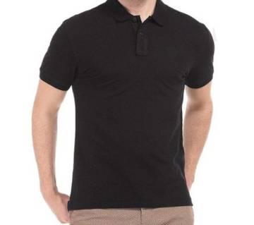 Short Sleeve Polo T-shirt For Men-Black