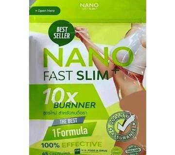 Nano Fast Slim 10X Burner- 45 slimming capsule-Thailand