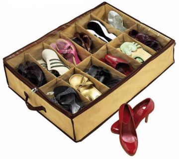 Shoe Storage with 12 Pairs Holder.