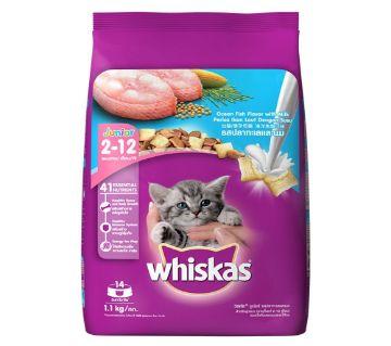 Whiskas Junior Ocean Fish With Milk ক্যাট ফুড - 1.1kg - Thailand