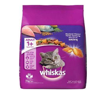 Whiskas Adult ক্যাট ফুড (Mackerel) - 3kg - Thailand