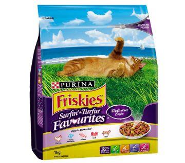 Purina Friskies Surfin Favorites Cat Food (3kg) - Thailand