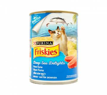 Purina Friskies Can Deep Sea Delights Pure Tuna (400g) - Thailand