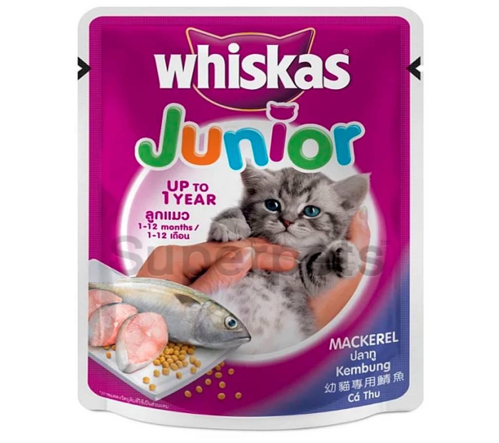 Whiskas Junior Pouch Mackerel কিটেন ফুড - 85gm - Germany বাংলাদেশ - 891389