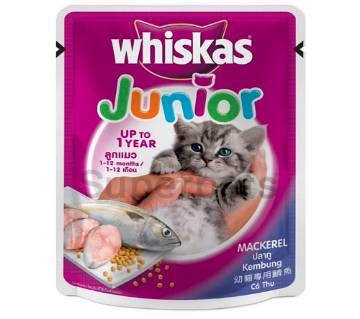 Whiskas Junior Pouch Mackerel (Kitten) 85gm - Germany