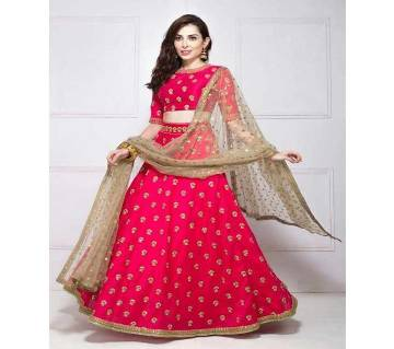 Unstitched Embroidery Georgette Lehenga (Copy)