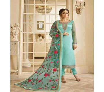 Jorjet with Embroidery Three Piece