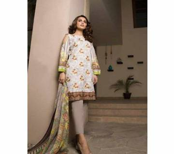 Embroidered Printed Lawn Unstitched Suit