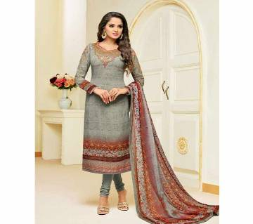 Georgette Digital Print with Embroidery Unstitched Suit