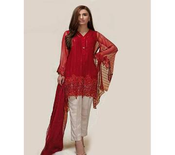 Georgette with Embroidery Unstitched Suit