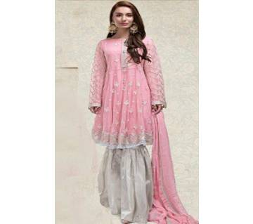 ORGANZA with Embroidery Unstitched Suit