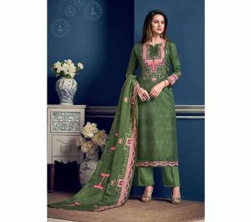 Pure Jam Silk Cotton with embroidery Unstitched Suit