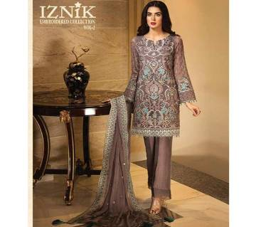 EMBROIDERED FAUX GEORGETTE Unstitched Suit