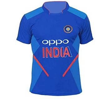 India Half Sleeve Cricket Jersey World Cup 2019 for Unisex-Copy