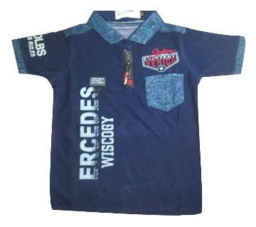 Blue Cotton Short Sleeve T-Shirt FOR KIDS