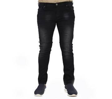 Black Denim Casual Jeans for Men