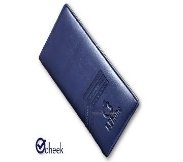 Long Wallet Cum Mobile Cover for Men Women Color Navy Blue