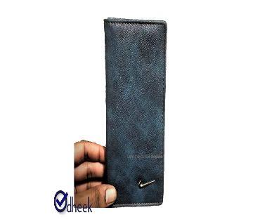 Long Wallet Cum Mobile Cover for Men Women Color Tiles Blue