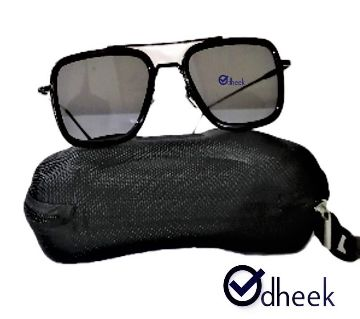 Metal Frame Men Sunglass Lens Black With  Travel Pouch