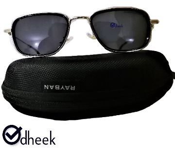 Metal Frame Sunglass for Men Black With Travel Pouch