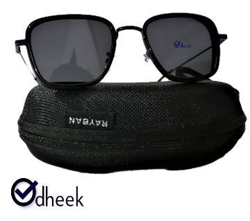 Metal Frame  Sunglass for Men Full Black With Travel Pouch