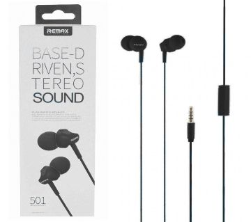 Remax RM 501 In Ear Earphone Stereo Headset BASE - D RIVEN