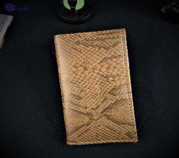 Long Wallet for Men Mobile Artifical Leather Khaki