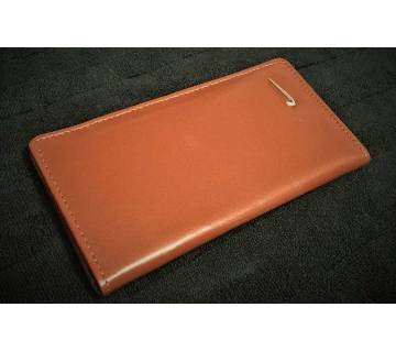 Nike Logo Artifical Leather Candy Red Long Wallet for Women Mobile Cover Card Holder