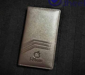 Long Wallet Mobile Holder Apple Iphone Logo Chocolate