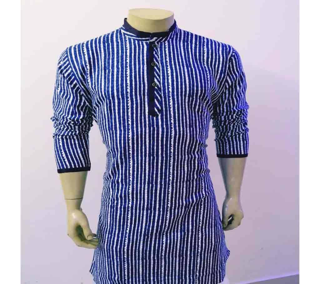 সেমি লং কটন পাঞ্জাবী ফর মেন -striped বাংলাদেশ - 1156832