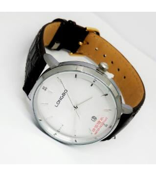 LONGBO FOR MEN BROWN LEATHER STRAP