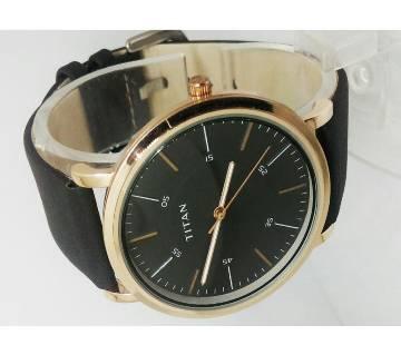 Titan Leather Watch For Men - Copy