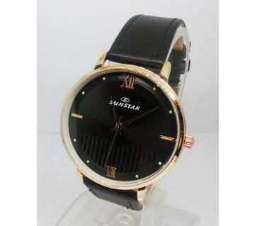 Sunstar Leather Watch For Men