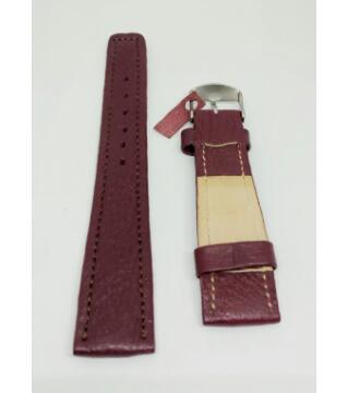 leather watch belt 20mm maroon