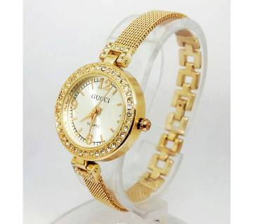 Gucci Diamond Cut Setting Watch For Women (Copy)