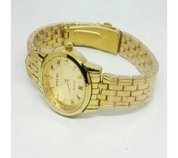 HALEI Golden wrist watch for women