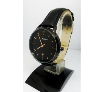 LONGBO ORIGINAL CARBON BLACK WATCH FOR MEN