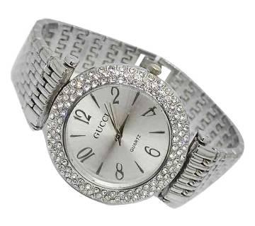 Diamond cut setting premium replica women watch