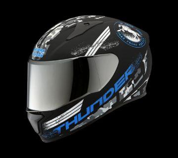 Studds Thunder D2 Decor Helmet-Blue