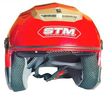 STM Motoroyole Half Face Helmet 603 RED