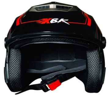 XBK 603 With Graphics Strikers/ FCB Motorcycle Half Face Helmet