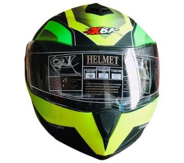 XBK-961 Full Face Flip up Helmet for Men - Green