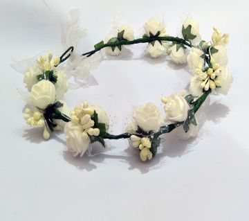 Flower crown for Women - white